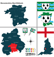 Worcestershire West Midlands vector image