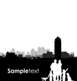 family and dogs cityscape vector image vector image