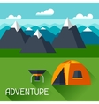 Background with of mountain landscape vector image