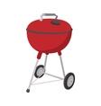 Barbecue grill cartoon icon vector image