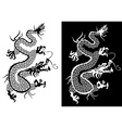 Black and white chinese dragon vector image