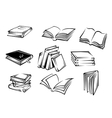 Books and magazines vector image
