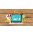 brand development or building with money goals vector image