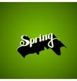 handwritten Spring retro label vector image