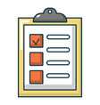 list of repair works icon cartoon style vector image