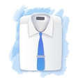 Mens folded shirt vector image