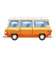 Mini bus icon cartoon style vector image