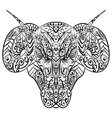 Zentangle stylized ram head vector image