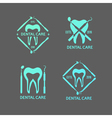 Dental logos set vector image