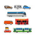 different road vehicles clip-art vector image vector image