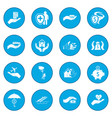 accident insurance icon blue vector image