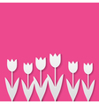 paper tulips vector image vector image