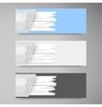 banner set  Colorful line Strips vector image vector image
