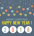 2016 Happy New Year vector image