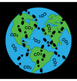 dirty footprints on earths ecology vector image vector image
