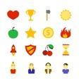 Retro Games Color Icons vector image