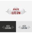 Athletic gym logo concept vector image