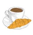 French breakfast Vintage lllustration vector image