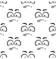 Cartoon sadness face seamless pattern vector image vector image