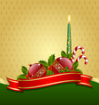 stylized christmas decoration vector image vector image