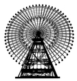 ferris wheel silhouette vector image vector image