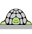 cheerful turtle vector image