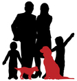 family and dogs vector image