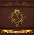 Letter J Luxury Logo template flourishes vector image
