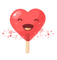lovely big red lollipop in the form of heart iso vector image