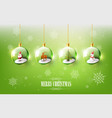 merry christmas with christmas character in ball vector image
