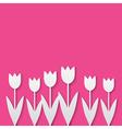 paper tulips vector image