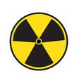 radiation symbol of activity on white background vector image