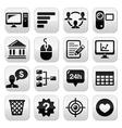 Website menu navigation black buttons set vector image