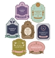 set of label templates vector image vector image