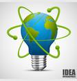 creative idea earth green energy vector image