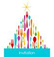 Christmas Tree Cutlery Pattern vector image