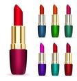 Set of multicolored lipsticks vector image