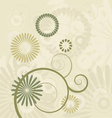 Floral Background ornament leaves vector image