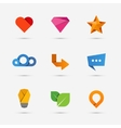Set of modern flat paper icons or logo elements vector image