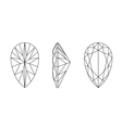 pear shape gemstone wire frame vector image
