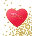 Happy Valentines Day Gold Background Gold and red vector image