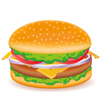 cheeseburger isolated on white background vector image vector image