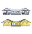 facades of houses vector image
