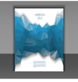 flyer for design layout with a polygonal pattern vector image