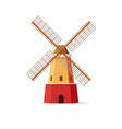 mill flat cartoon windmill vector image
