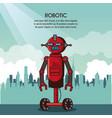 robotic infographic cartoon vector image