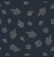 seamless pattern with floating leaves vector image