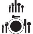 silverware pictogram vector image