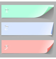 Three paper banners vector image