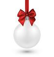 white 3d christmas ball on white vector image